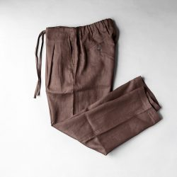 comm.arch. LINEN TROUSERS|MUD BROWN