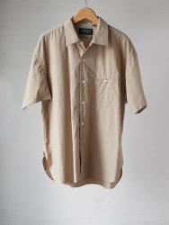 HANDROOM オープンカラー半袖シャツ|ベージュ