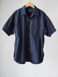 HANDROOM オープンカラー半袖シャツ|ネイビー