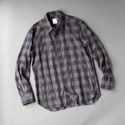 SAGE DE CRET ヘリンボーンチェックシャツ|グレー